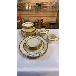 EDWIN M KNOWLES CHINA DISHES AND CREAM AND SUGAR