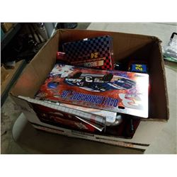 Box of various Nascar collectibles