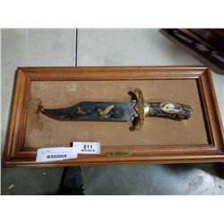 AMERICAN EAGLE BOWIE KNIFE ON WALL PLAQUE