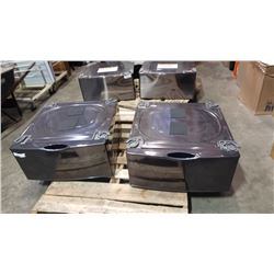 AS NEW PAIR OF 27 INCH LAUNDRY PEDESTALS - BLACK