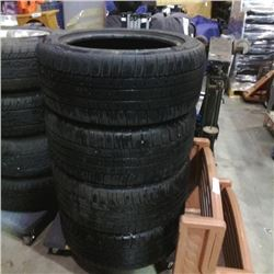 SET OF 4 MICHELIN 245/50R18 M+S TIRES
