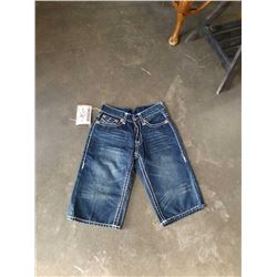 PAIR OF TRUE RELIGION BILLY SUPER T JEAN SHORTS SIZE 30 - RETAIL $345
