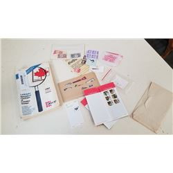 LOT OF STAMPS AND STAMP VALUE BOOK