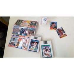 NOLAN RYAN TRADING CARDS, BASEBALL CARDS AND SIGNED BLUE JAYS BASEBALL
