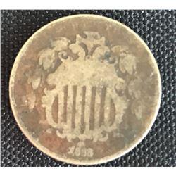 Coin - US 1868 Shield Nickel