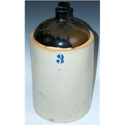 Collectible - 3 Gallon Blue Crown Stoneware Jug