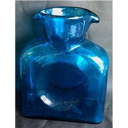 Collectible - Blenko Blue Pour Bottle
