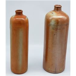 Collectible - ANTIQUE JANSEN & WOUTERLOOD SCHIEDAM STONEWARE GINGER BEER BOTTLE