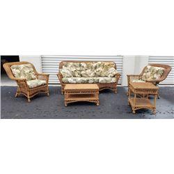 Furniture - 5 pc Outdoor Rattan Patio Set