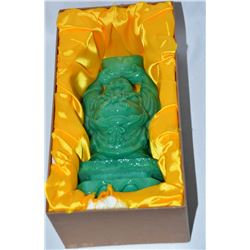 Collectible - Jade Standing Money Buddha Statue