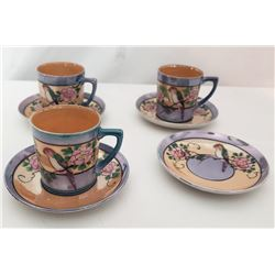 Collectible - Japan Hand Painted Espresso Cups and Saucers
