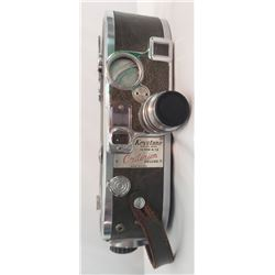 Collectible - Keystone 16mm A-12 Criterion Deluxe Movie Camera with a Keystone Elgeet 1 inch f:1.9 L