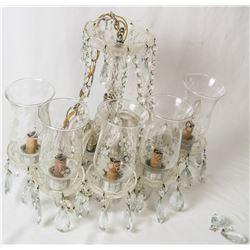 Collectible - Large Vintage Cyrstal Drop Pendant Hanging Chandiler