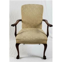 Collectible - Chippendale with Damask, Claw & Ball Side chair
