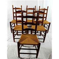 Collectible - E. A. Clore Ladder Back Dining Side Chairs No. 73c