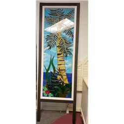 Collectible - Palm Tree Stained Glass Panel
