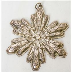 Collectible - Gorham Sterling Silver 1974 Christmas Ornament Snowflake