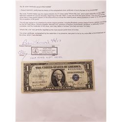 Collectible - $1 Silver Certificate Autographed by the Panelists of the TV Show Whats My Line