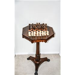Collectible -  English Antique Regency Rosewood Game Table Circa 1820