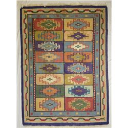 "Collectible - Indian Dhuriee Rug 7'8"" x 5'7"""
