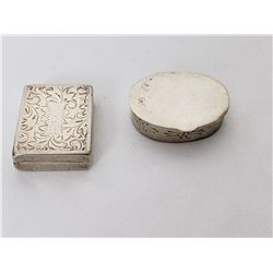 Collectible - Silver Pill Boxes