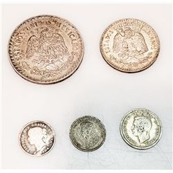 Coins - (5) Foreign Silver Coins