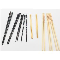 Collectible - (9) Pairs of Chopsticks