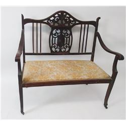 Collectible -CHIPPENDALE HALL SETTEE, LOVE SEAT, BENCH C 1900