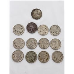 Coin - 13 US Nickel Coins