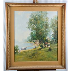 "Collectible - Wilhelm Thelen Art Titled ""Landscape"""