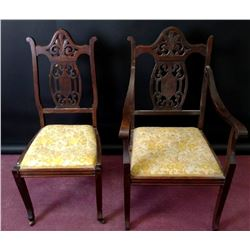 Collectible - Chippendale 2 pc Chair Set