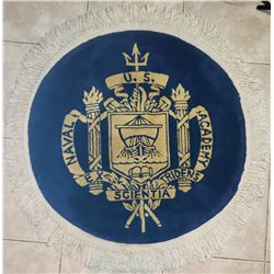 Collectible - Military US Naval Academy Crest Round Handmade Carpet