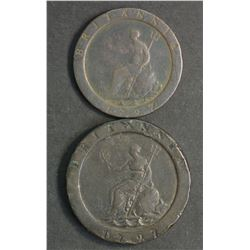 Australia Proclomation 1797 Cartwheel Twopence & Penny