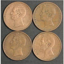 Australia Professor Holiday Penny Tokens of 1858