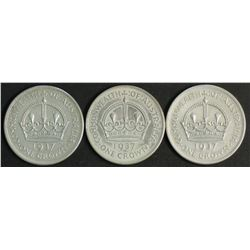 Australia 1937 Crowns EF or Better