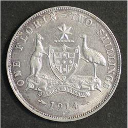 Australia Florin 1914 H