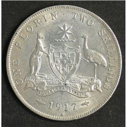 Australia Florin 1917