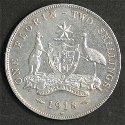 Australia Florin 1918