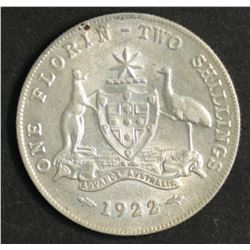 Australia Florin 1922