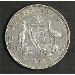 Australia Florin 1931 & 1935