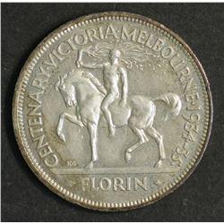 Australia Florin 1934/35 Centenary