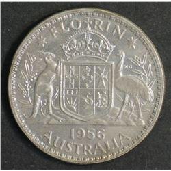 Australia Florin 1956 Proof FDC