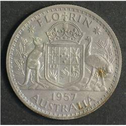 Australia Florin 1957 Proof FDC
