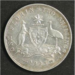 Australia florin 1928 Near EF