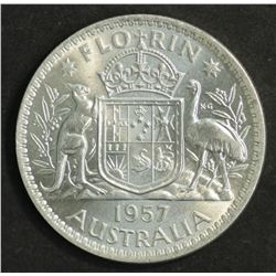 Australia Florin 1957 Gem Unc