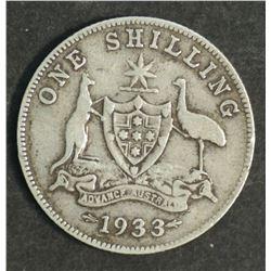 Australia 1933 Shilling Average Circulated