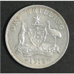 Australia Shilling 1915 Extremely Fine