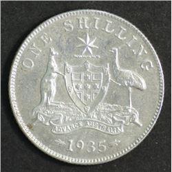 Australia Shilling 1935 Good Extremely Fine