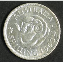 Australia Shilling 1943 S Over D