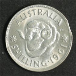 Australia Shilling 1961 Bitten Edge Uncirculated